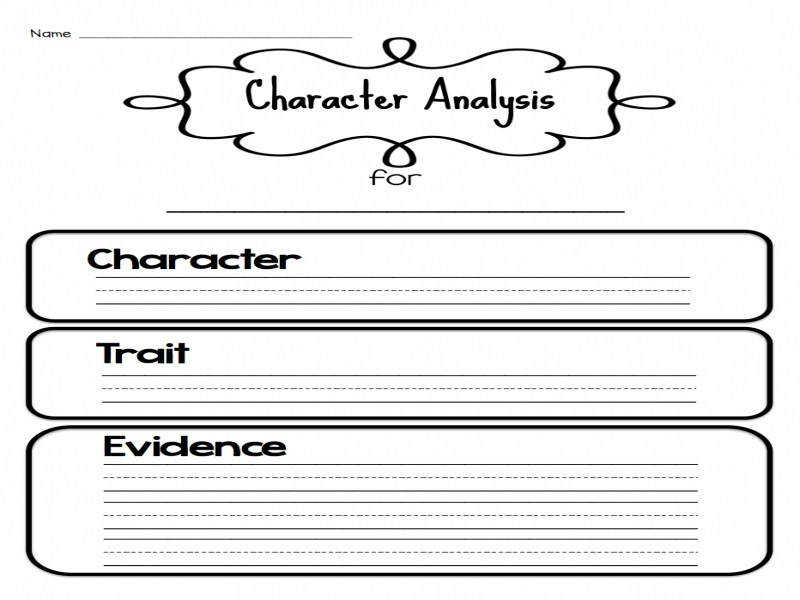 Sarah s First Grade Snippets Teaching Character Analysis In The