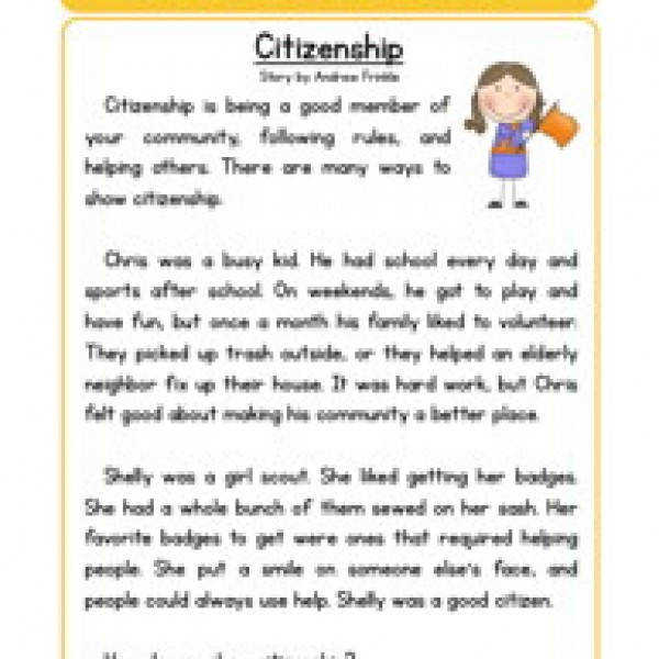 character stories prehension citizenship Reading WorksheetsCharacter EducationCharacter