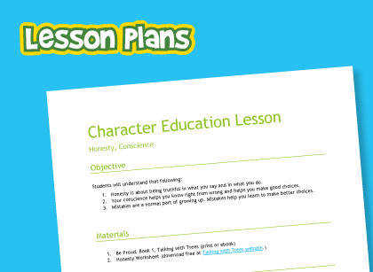 Lesson plan and free worksheet on treating others with respect and responsibility