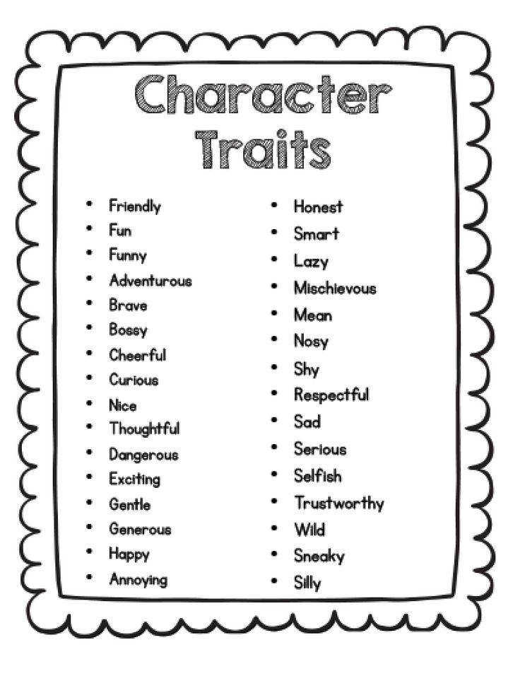 Sarah s First Grade Snippets Teaching Character Analysis in the Primary Grades