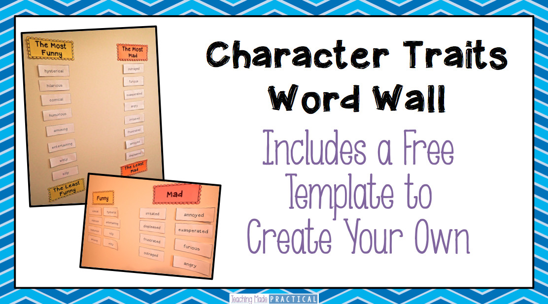 Teaching Character Traits Low Prep Activities