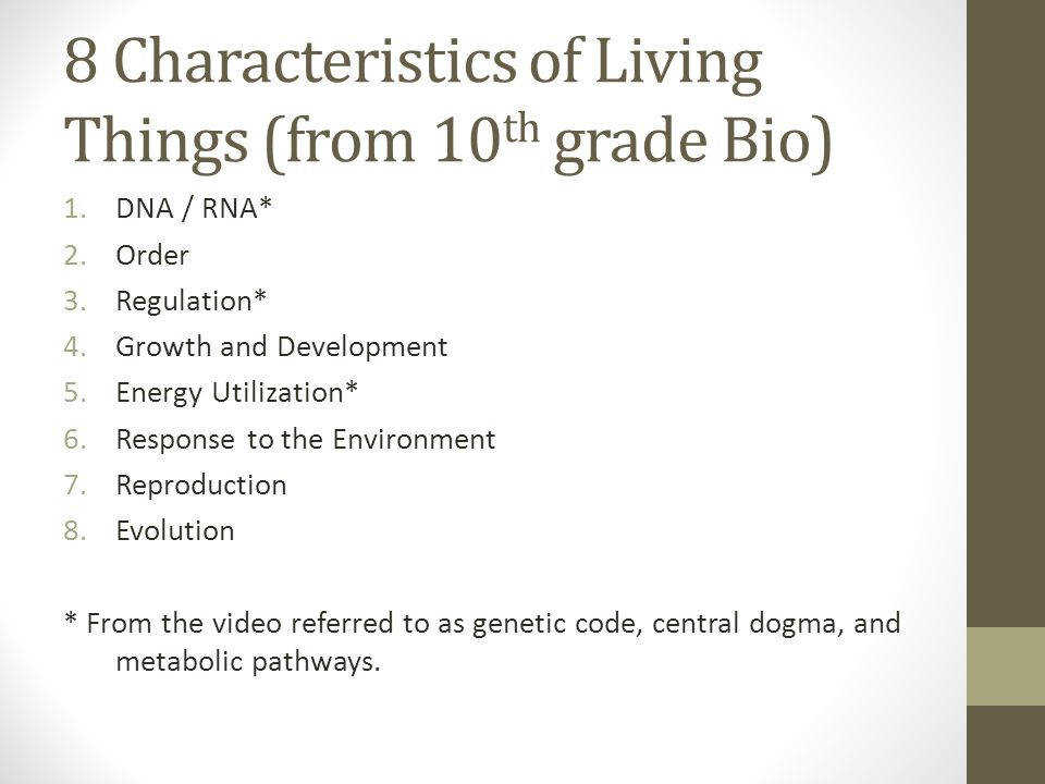 2 8 Characteristics of Living Things