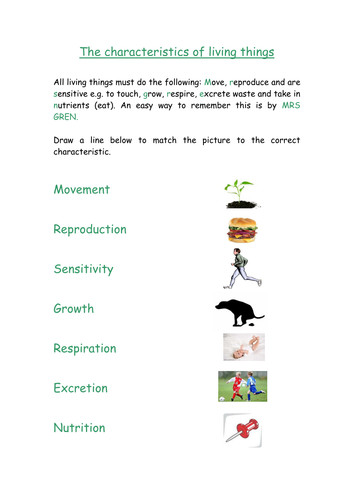 Biology Y7 worksheet Characteristics of living things and cells by SSLynne Teaching Resources Tes