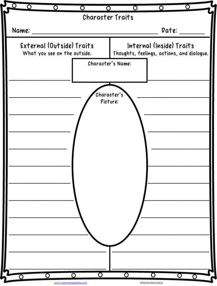 free character traits worksheet click through for book re mendations for teaching character traits