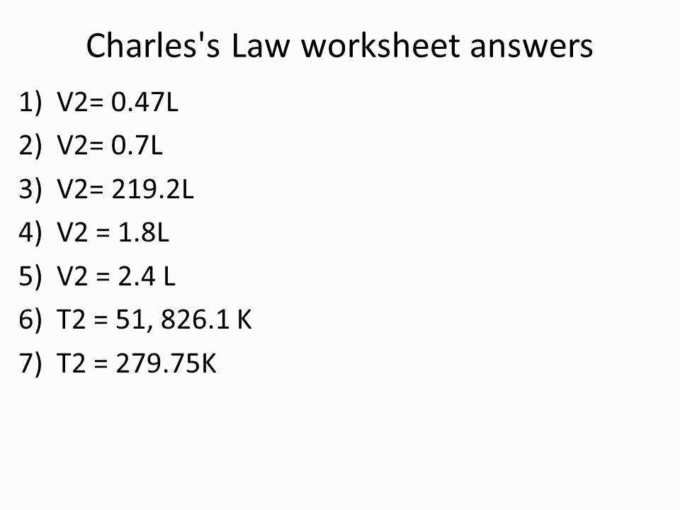 Charles Law Worksheet Elegant Gas Laws and Nature Gases Ppt Video line