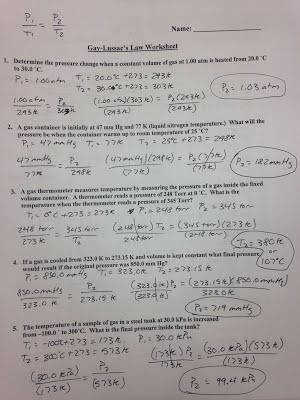 Boyle s Law Practice Answer Key