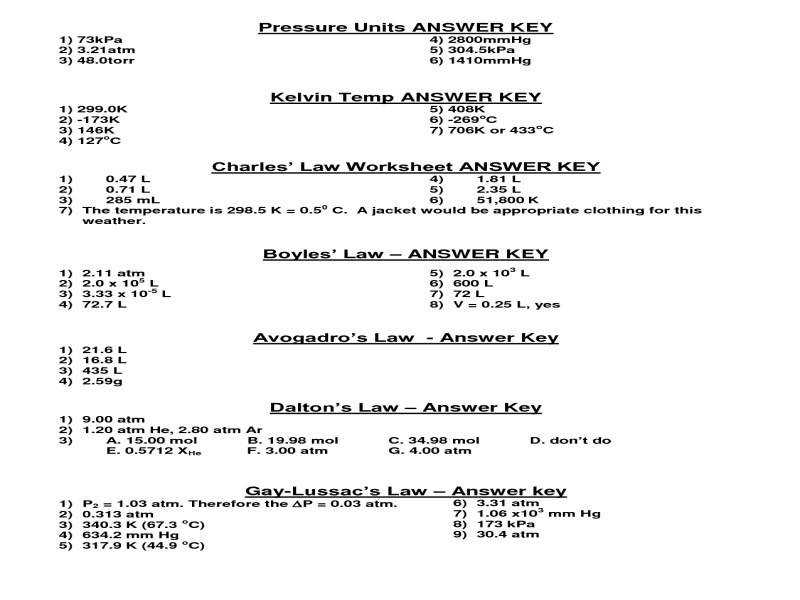 Charles Law Worksheet Answers Chemistry If8766 Gallery. Charles Law Worksheet Answer Key Gallery Math For Kids. Worksheet. Charles Law Worksheet At Mspartners.co