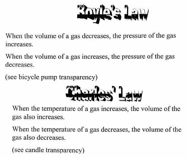 Worksheet · Gas Law s Charle s Law and Boyle s Law