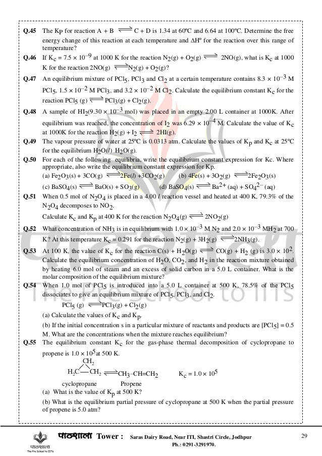 chemical equilibrium for iit jee 29 638