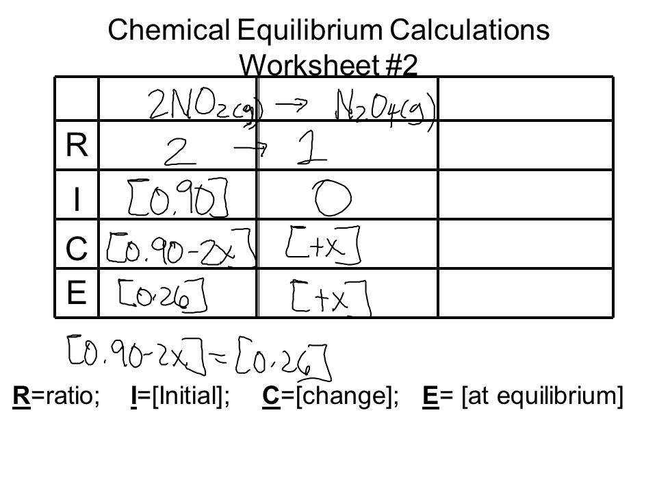 52 Chemical Equilibrium Calculations Worksheet