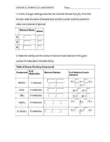 Chemical Formulas And Equations Worksheet The Best and Most