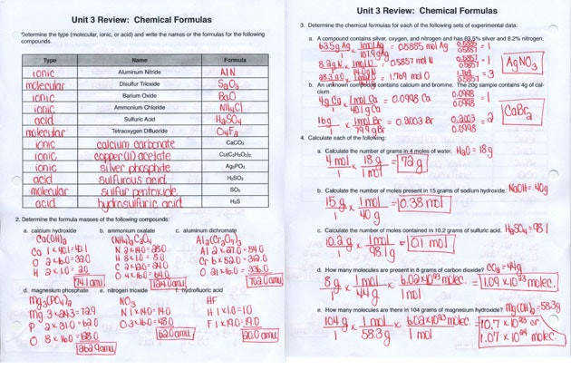 Chemical Formula Writing Worksheet Print Chemical Formula Writing Worksheet Unit 3 Formulas Printable Impression Admirable