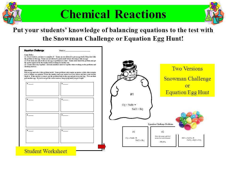 Chemical Reactions Worksheets Worksheets For School pigmu