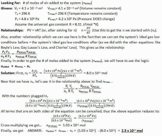 Charles Law Worksheet New Ideal Gas Law