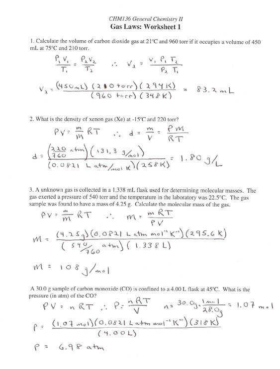 Gas Stoichiometry Practice 10th 12th Grade Worksheet