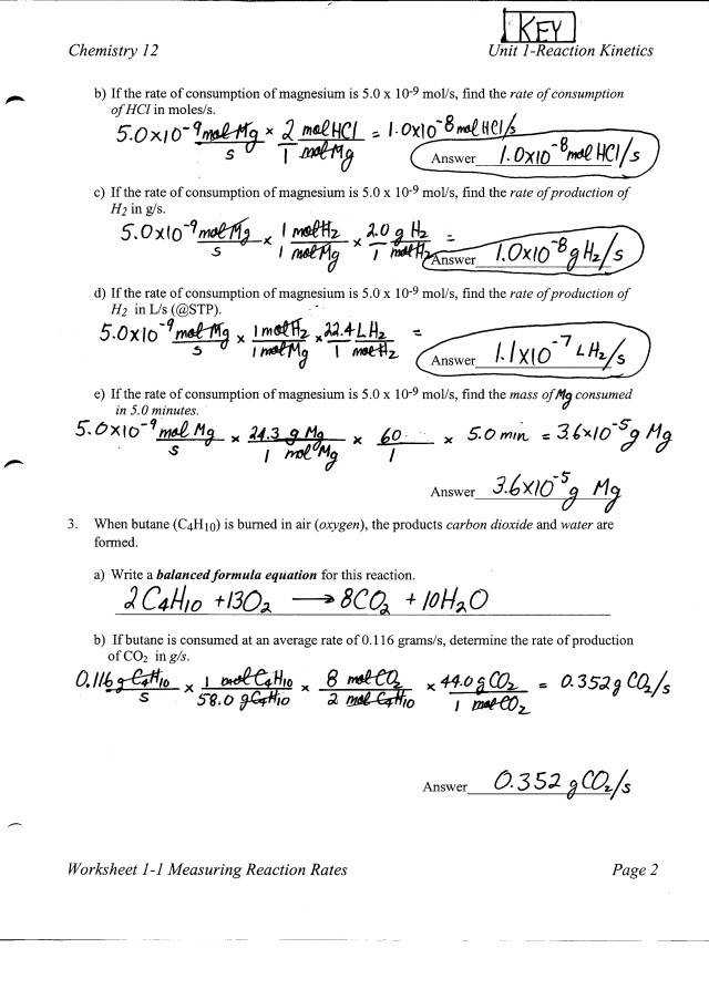 Worksheet Reaction Rates Answers Gpb Sewdarncute. Chemistry Stoichiometry Worksheet Homeschooldressage Reaction Rate. Worksheet. Worksheet Reaction Rates Chemistry A Study Of Matter Answers At Clickcart.co