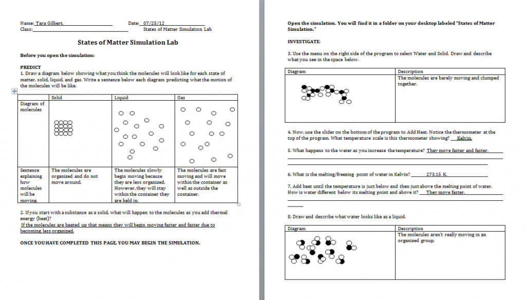 chemistry worksheet matter 1. Black Bedroom Furniture Sets. Home Design Ideas