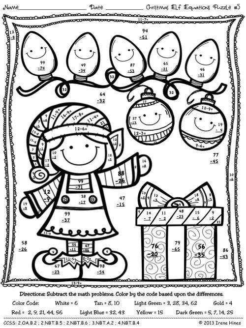 Coloring First Grade Coloring Sheets Christmas With Best 25 Christmas Math Ideas Pinterest
