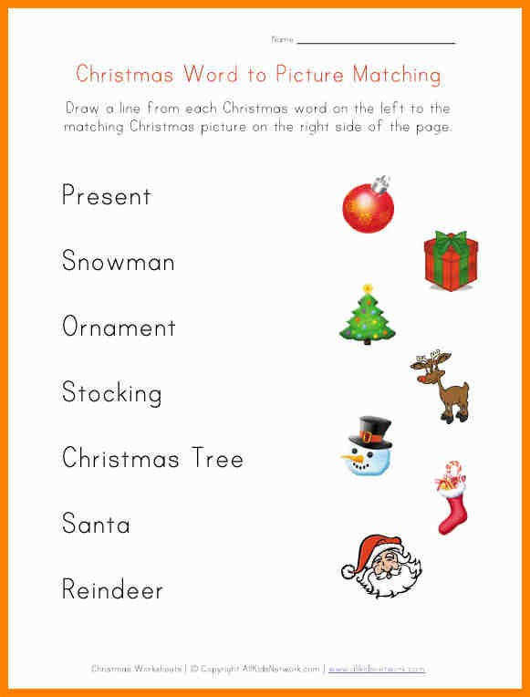 8 Free Printable Christmas Worksheets