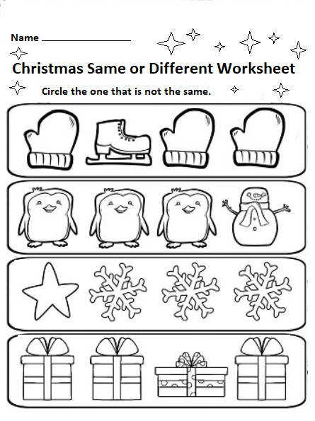 free printable christmas worksheets for preschool