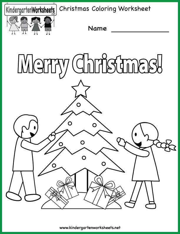 Our Free Kindergarten Christmas Worksheets