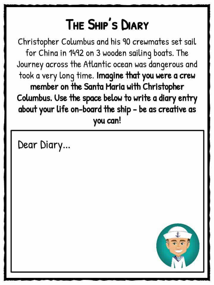 Ship s Diary Writing Prompt