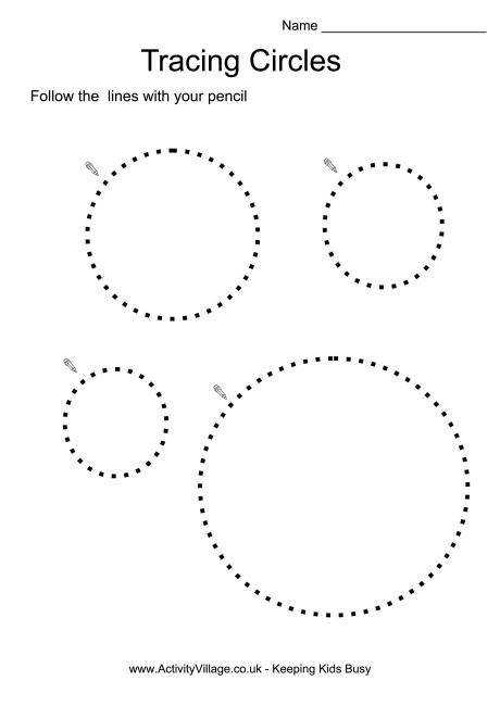 You can use our tracing circles worksheets to help children practice drawing curves in preparation for letter formation