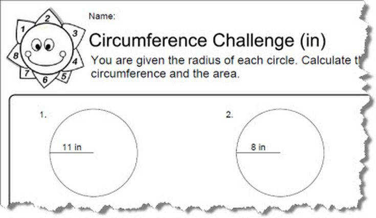 Circumference Worksheets in 1 56a6025c5f9b58b7d0df71fe
