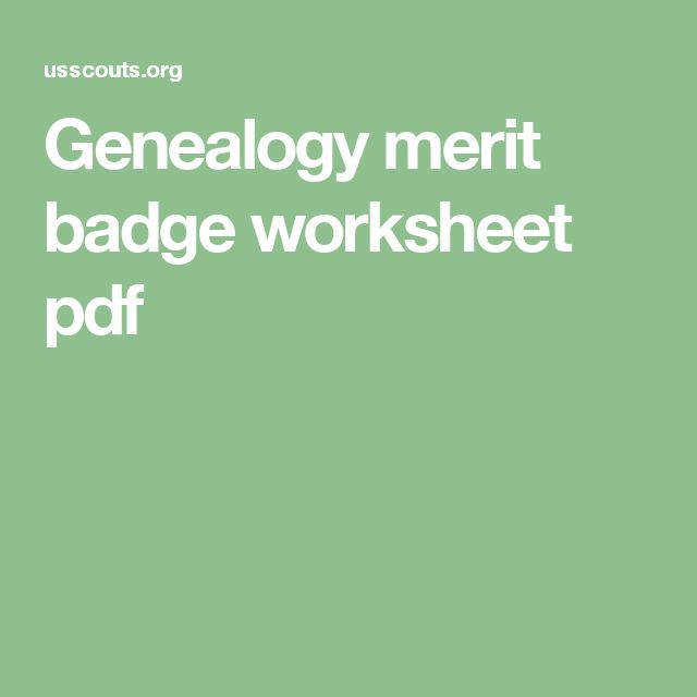 Citizenship in the World Merit Badge worksheet Scouting
