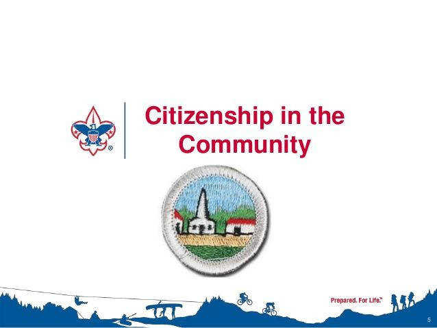 Citizenship in the munity Merit Badge Class Instructor Presentation
