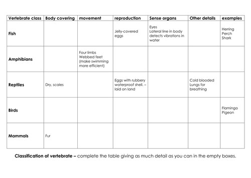Characteristics Classification of Living Things by Scottish Twit Teaching Resources Tes