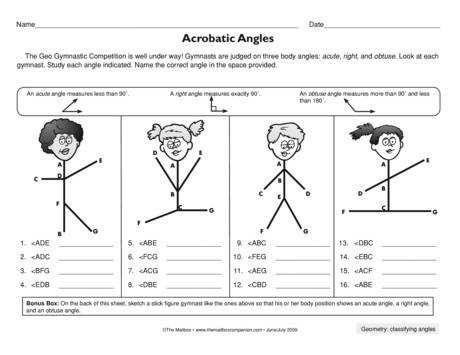 Acrobatic Angles Lesson Plans The Mailbox