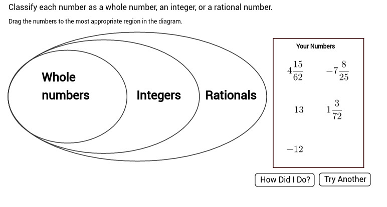 Classifying Rational Numbers View Worksheet
