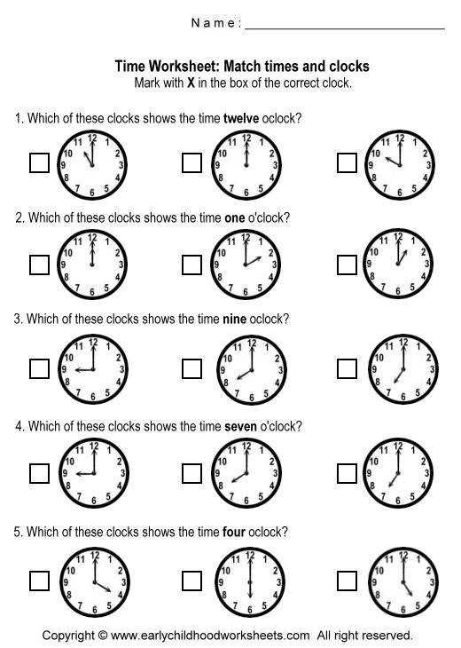 matching time and clocks 6