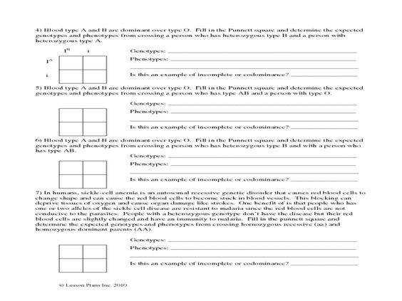 Co Dom Inc Dom and Epistasis Worksheet