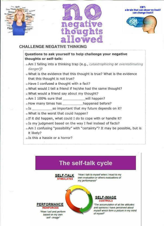CBT therapy worksheet