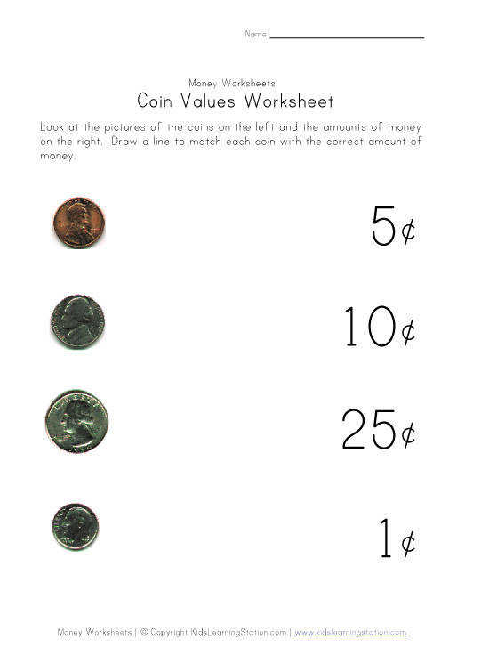Matching coin to value assessment