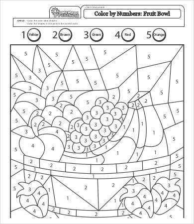 Free Printable Color & Number Worksheet