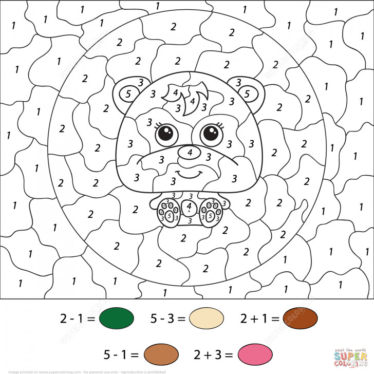 Image Color By Number For Your Drawing The Numbers Worksheet Educations