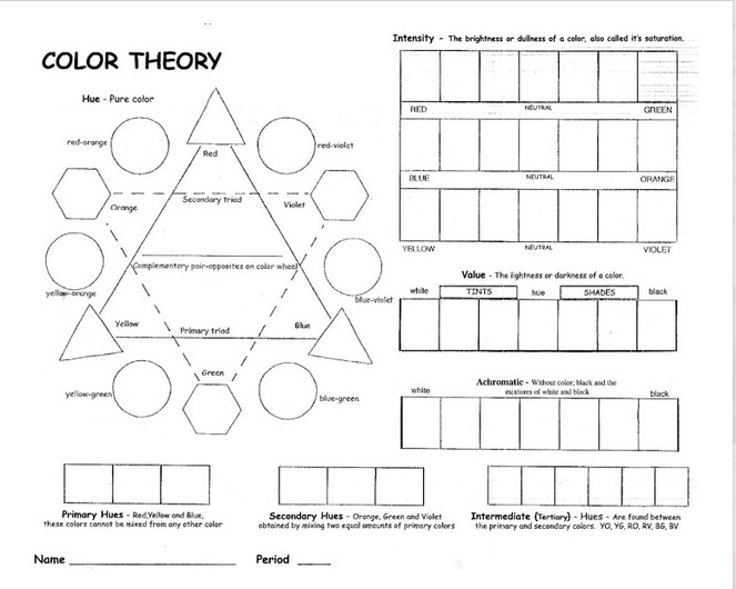 17 Best ideas about Color Wheel Worksheet on Pinterest