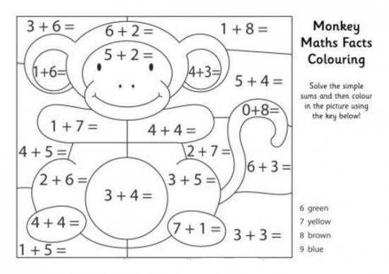 Coloring Math Pages 20 Math Worksheets Coloring Download Printable Multiplication
