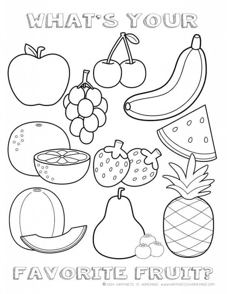 Printable Healthy Eating Chart & Coloring Pages Happiness is Homemade