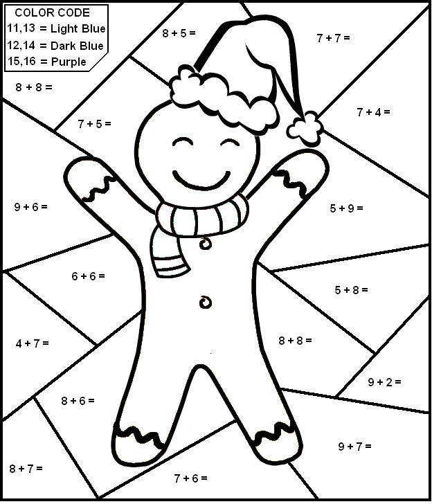 math coloring addition worksheet