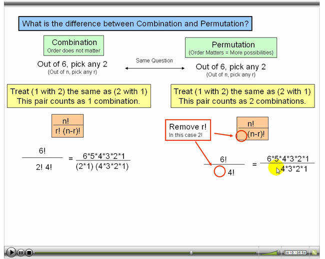 Permutations And binations Examples