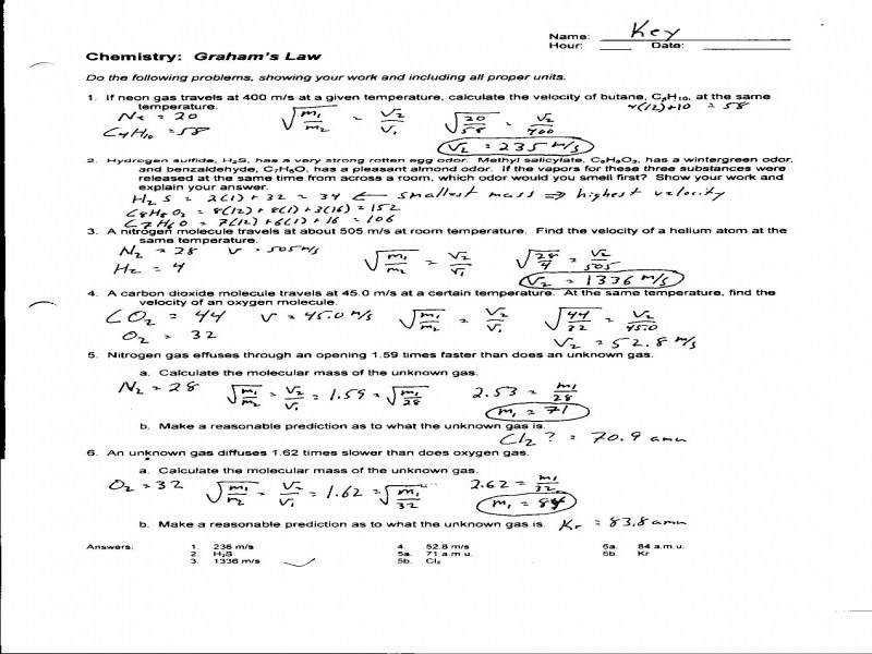 bined Gas Law Problems Worksheet Davezan Laws Answers Wiring