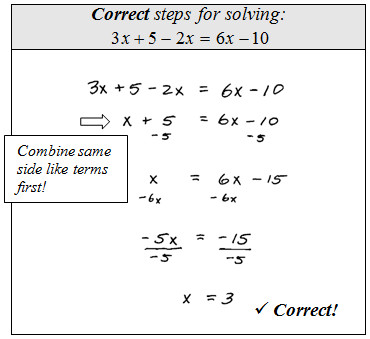 Solving Equations By bining Like Terms Worksheet