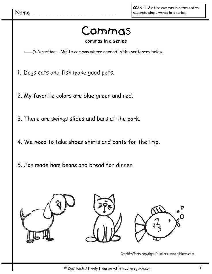 grammar worksheets mas in a series first grade free