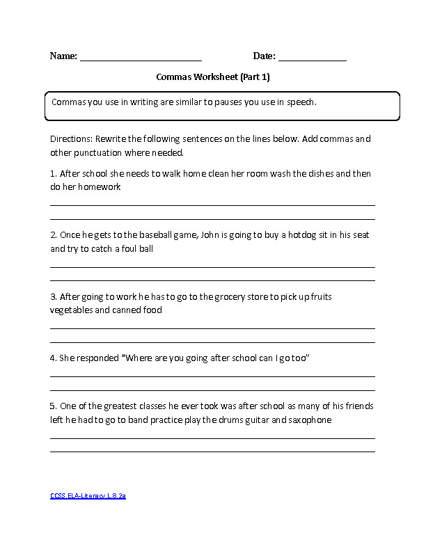 mas Part 1 Intermediate CCSS ELA Literacy L 8 2a Language Worksheet