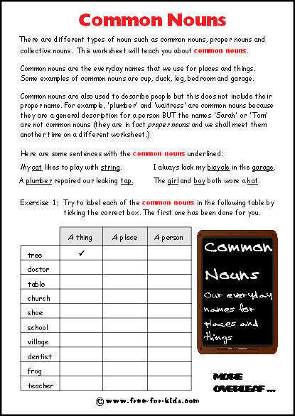 Image of blank mon nouns worksheet
