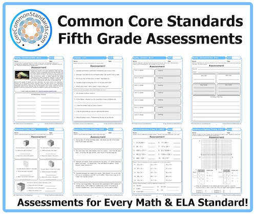 5th Grade mon Core Math Worksheets 5th Grade mon Core Math Worksheets Fifth Assessments